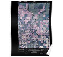 USGS Topo Map Washington State WA Wheeler 20110425 TM Inverted Poster