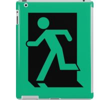 Running Man Exit Sign, Left Hand iPad Case/Skin