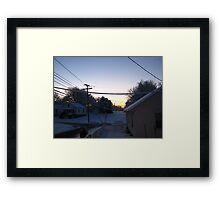 Feb. 19 2012 Snowstorm 68 Framed Print