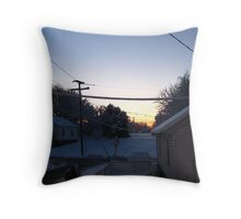 Feb. 19 2012 Snowstorm 68 Throw Pillow