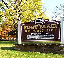 Location of Fort Blair, Baxter Spgs., KS by Annie (Martha) Stewart
