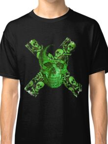 Green Skull - Funny Skull T-shirt Classic T-Shirt