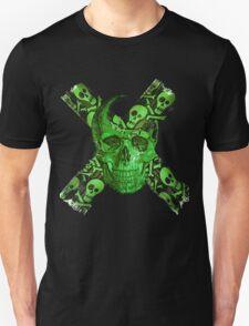 Green Skull - Funny Skull T-shirt T-Shirt