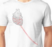 Red strings (Left) Unisex T-Shirt