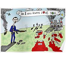 President Assad's Ode to Whitney Houston editorial cartoon Poster