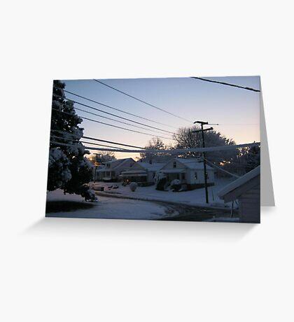 Feb. 19 2012 Snowstorm 71 Greeting Card