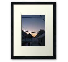 Feb. 19 2012 Snowstorm 72 Framed Print
