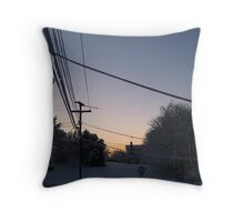 Feb. 19 2012 Snowstorm 73 Throw Pillow