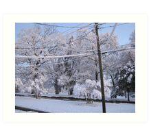 Feb. 19 2012 Snowstorm 85 Art Print