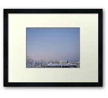 Feb. 19 2012 Snowstorm 86 Framed Print