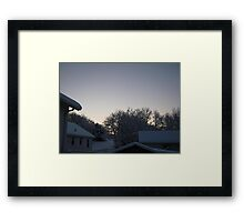 Feb. 19 2012 Snowstorm 91 Framed Print