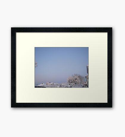 Feb. 19 2012 Snowstorm 92 Framed Print