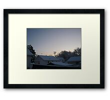 Feb. 19 2012 Snowstorm 94 Framed Print