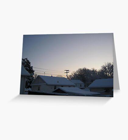 Feb. 19 2012 Snowstorm 94 Greeting Card
