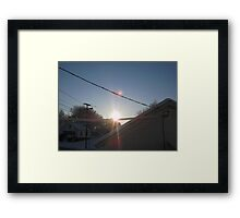 Feb. 19 2012 Snowstorm 108 Framed Print