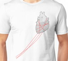 Red strings (Right) Unisex T-Shirt