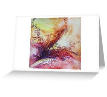 abstract on paper Greeting Card