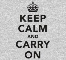 Keep Calm and Carry On - Light Kids Tee