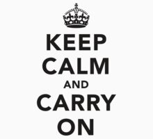 Keep Calm and Carry On - Light Kids Tee