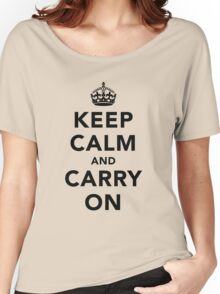 Keep Calm and Carry On - Light Women's Relaxed Fit T-Shirt