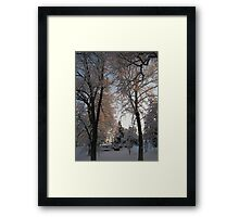 Feb. 19 2012 Snowstorm 135 Framed Print