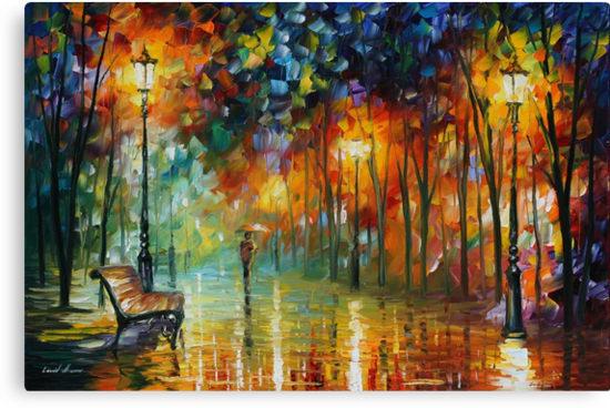STROLL IN THE FOG - LEONID AFREMOV by Leonid  Afremov