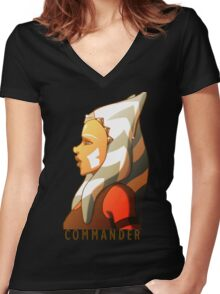 Commander Tano Women's Fitted V-Neck T-Shirt