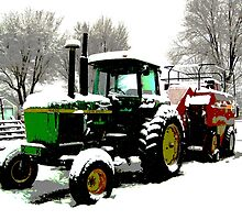 Real Tractor  by Carin Fausett