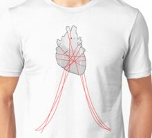 Red strings (Middle) Unisex T-Shirt