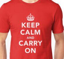 Keep Calm and Carry On - Dark Unisex T-Shirt