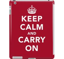 Keep Calm and Carry On - Dark iPad Case/Skin