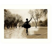 Ballerina Snow Art Print