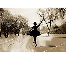 Ballerina Snow Photographic Print