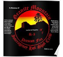 Prescott Granite Mountain Hotshots Memorial T-Shirt Poster