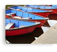 Row boats for hire Canvas Print