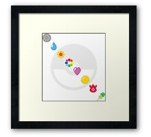Pokemon Badges Framed Print