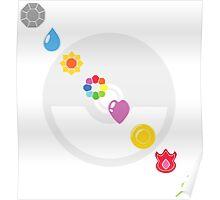 Pokemon Badges Poster