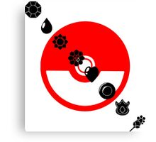 Pokemon Black Badges  Canvas Print