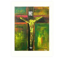 Crucifixion Yellow - Green 2010 Art Print