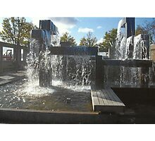 Waterfall Sculpture Photographic Print