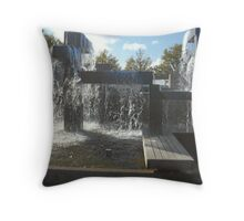 Waterfall Sculpture Throw Pillow