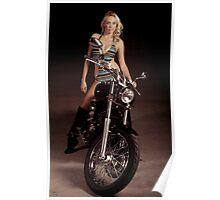 Blond Biker Poster