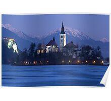Frozen Lake Bled Poster