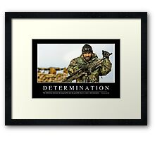 Determination: Inspirational Quote and Motivational Poster Framed Print