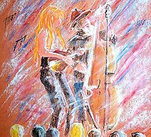 I Love Bluegrass Pastel Painting by bill holkham