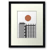 City in construction Framed Print