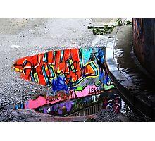 Coloured Rain Photographic Print