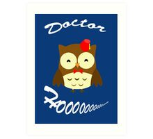 Doctor Hoo Owl Shirt Art Print