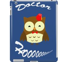 Doctor Hoo Owl Shirt iPad Case/Skin