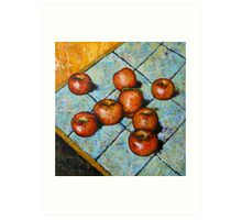apples on tile Art Print